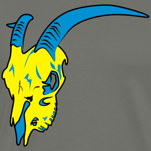 Steinbock Skull 3farbig - Männer Premium T-Shirt