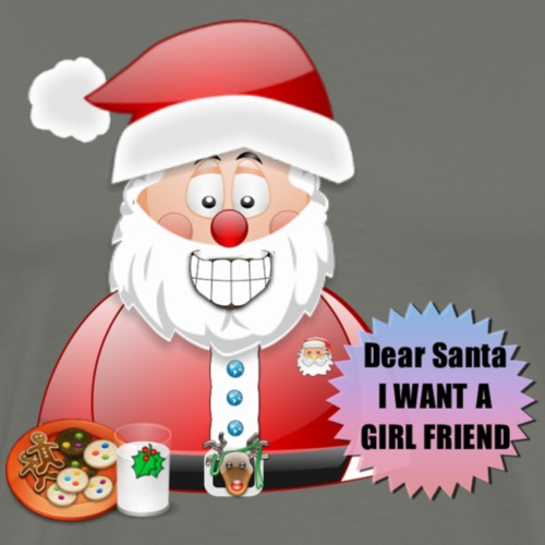 Santa 13 I want a girlfriend - Men's Premium T-Shirt