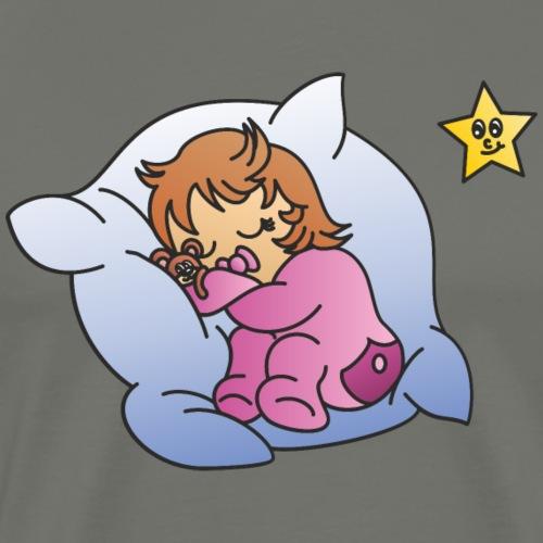 Baby Mädchen schläft - Männer Premium T-Shirt