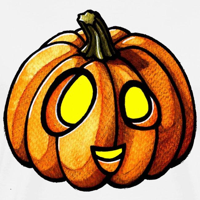 Pumpkin Halloween watercolor scribblesirii