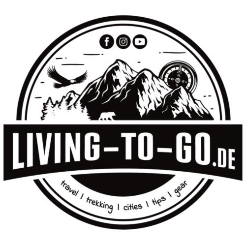 LivingToGo Fan-Shop Logo schwarz - Männer Premium T-Shirt