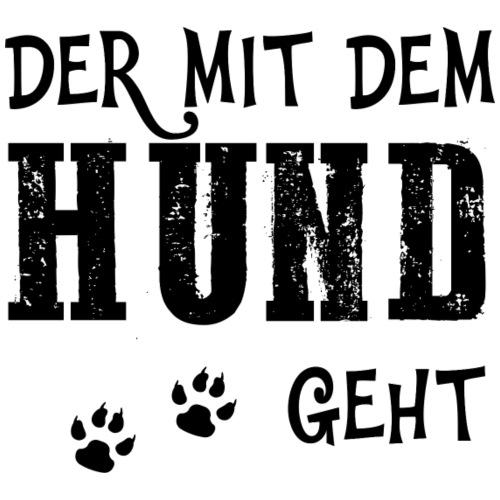Der mit dem Hund geht Gassi gehen Hundefreunde - Männer Premium T-Shirt