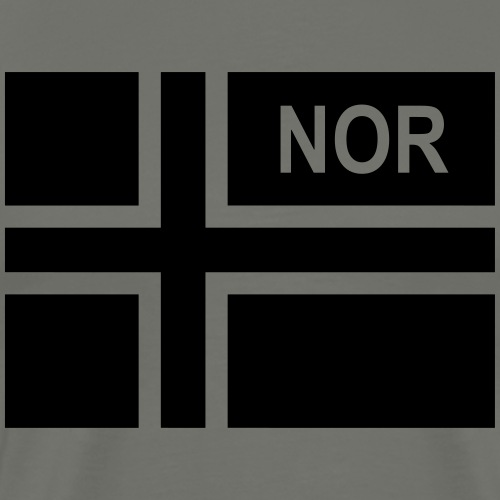 Norwegian Tactical Flag Norway -Norge - NOR - Premium-T-shirt herr