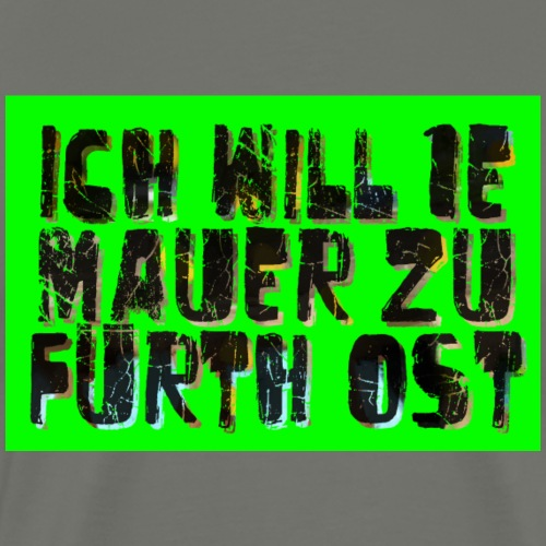 Fuerth Mauer - Männer Premium T-Shirt