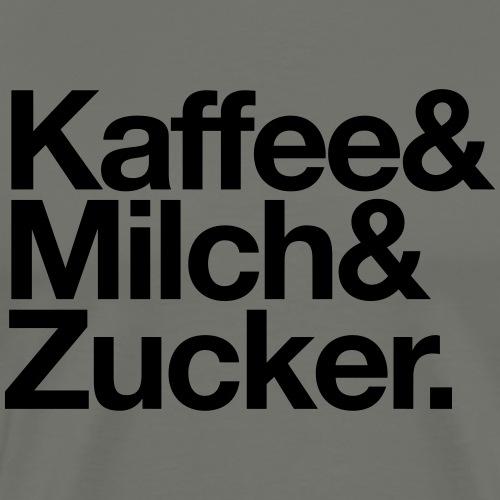 Kaffee Milch Zucker - Männer Premium T-Shirt