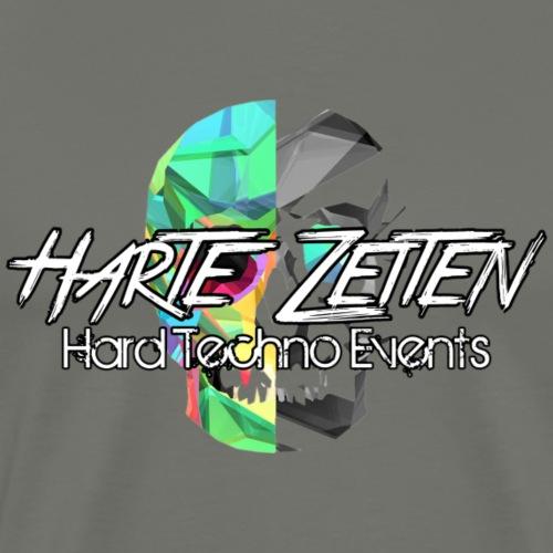 Harte Zeiten Skull & Schriftzug - Männer Premium T-Shirt