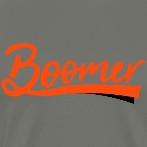 Boomer - 2 color text - diy - Miesten premium t-paita