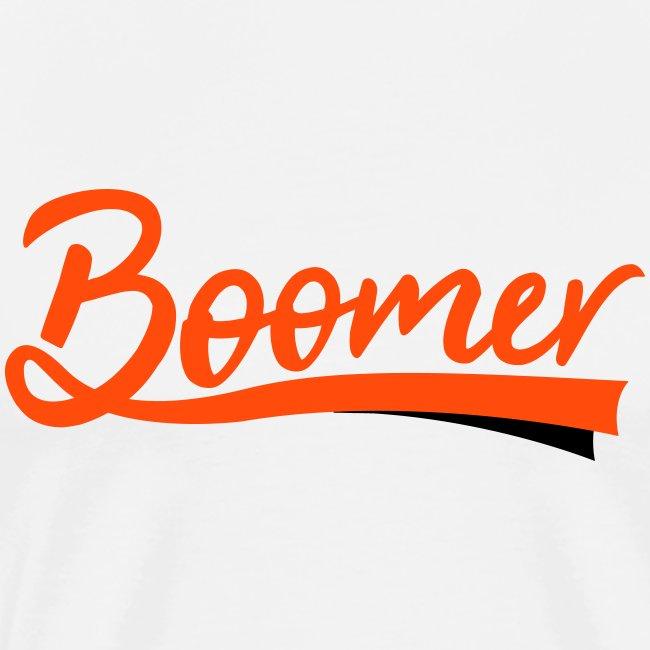Boomer - 2 color text - diy