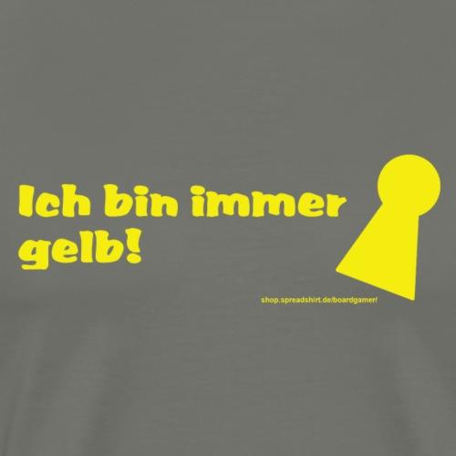 gelb poeppel - Männer Premium T-Shirt