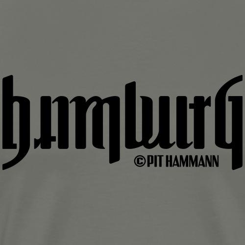 Ambigramm Hamburg 01 Pit Hammann - Männer Premium T-Shirt