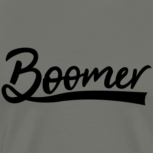 Boomer with 1 editable text color - Miesten premium t-paita