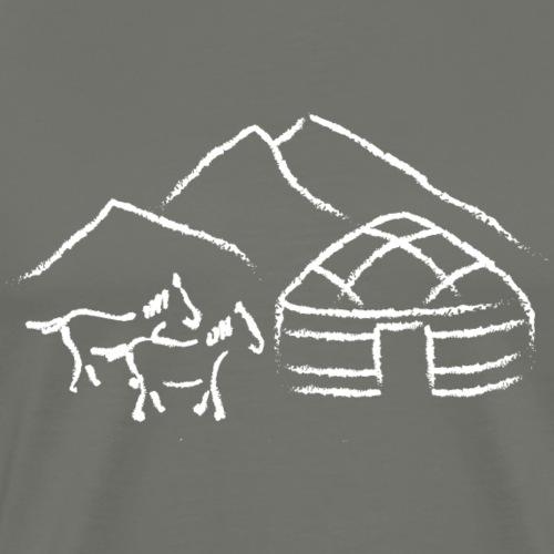 Yurt design weiss - Männer Premium T-Shirt