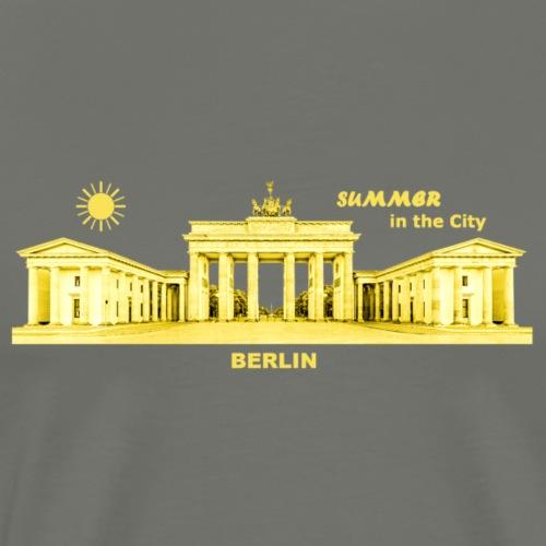 Sommer Berlin City Brandenburger Tor Hauptstadt - Männer Premium T-Shirt