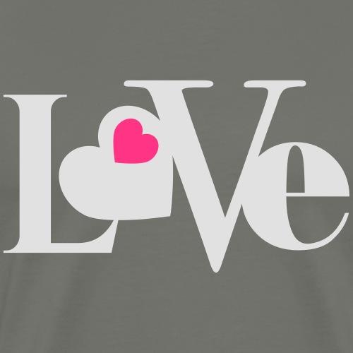 Love with Heart - Männer Premium T-Shirt
