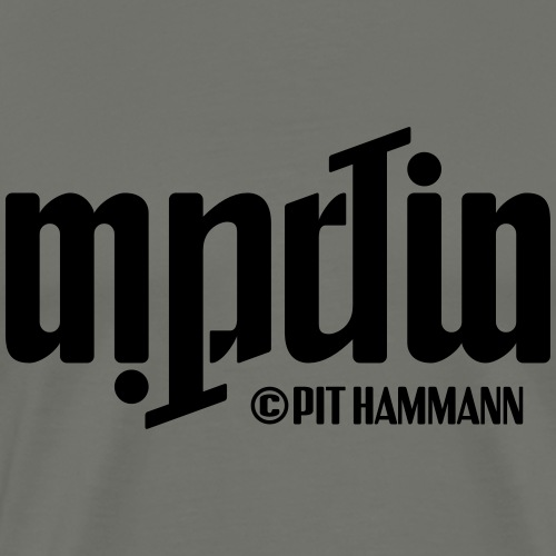 Ambigramm Martin 01 Pit Hammann - Männer Premium T-Shirt