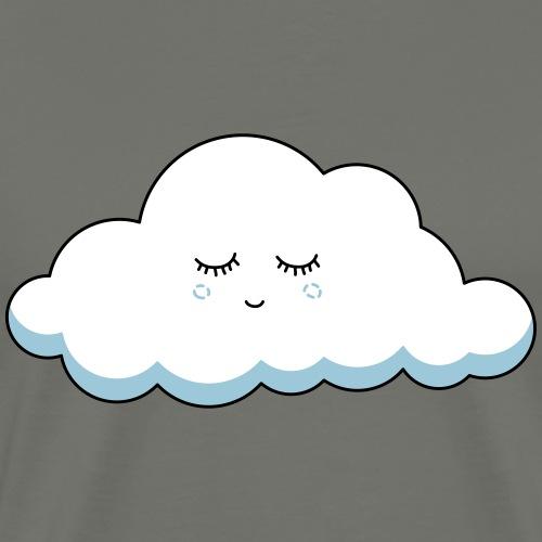 Schlaf Wolke mit Wimpern - Männer Premium T-Shirt