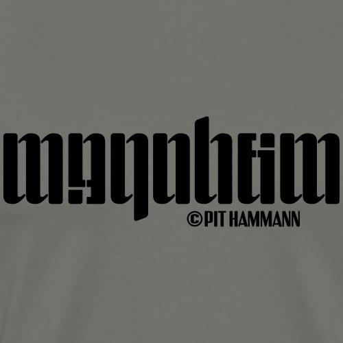 Ambigramm Mannheim 01 Pit Hammann - Männer Premium T-Shirt