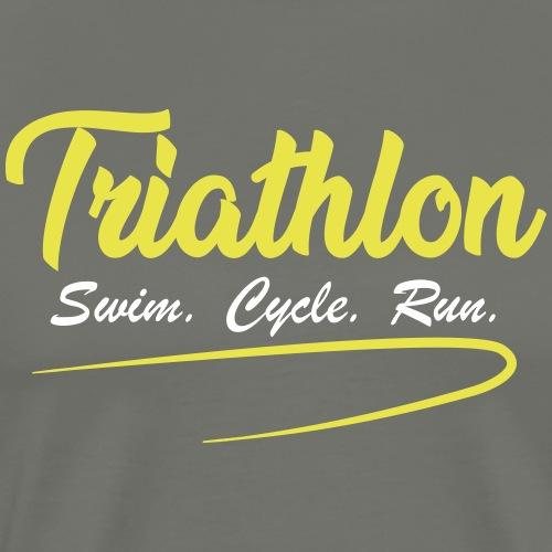 Triathlon swim cycle run - Männer Premium T-Shirt