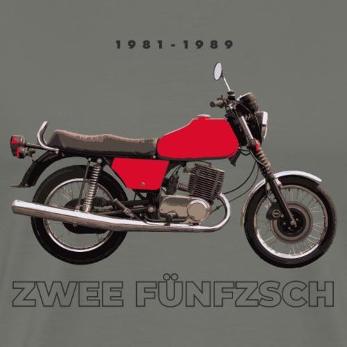 Zwee Fünfzsch Rot DDR Motorrad-MZ ETZ 250-ETZ 251 - Männer Premium T-Shirt