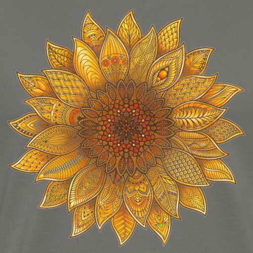 Sunflower zentangle - Men's Premium T-Shirt