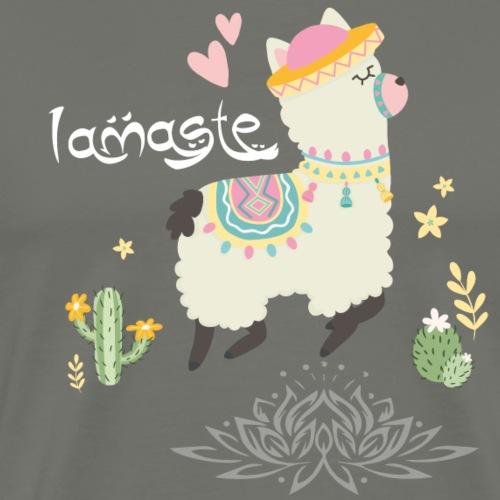 LAMA + NAMASTE = LAMASTE - T-shirt Premium Homme