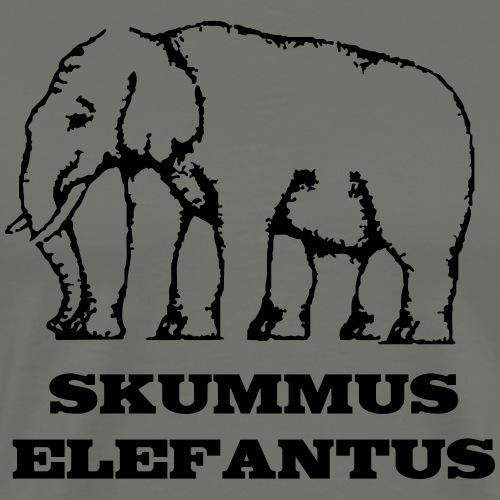 Skummus Elefantus - Premium-T-shirt herr