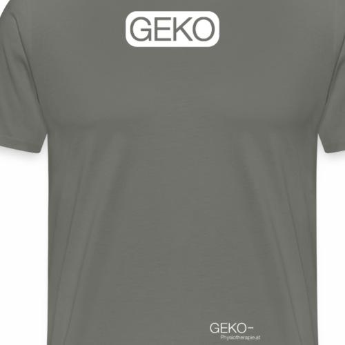Schrift GEKO weiss klein - Männer Premium T-Shirt