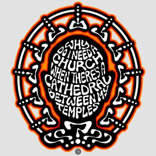 FREE THINKER (black/white/red/orange) - Men's Premium T-Shirt
