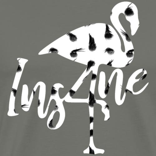 Ins4ne Flamingo Pois - Maglietta Premium da uomo