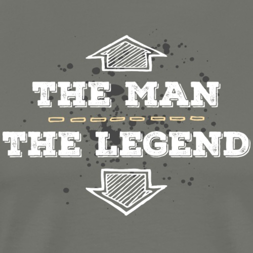 the Man the Legend legendär Sexprotz Macho Titan - Men's Premium T-Shirt