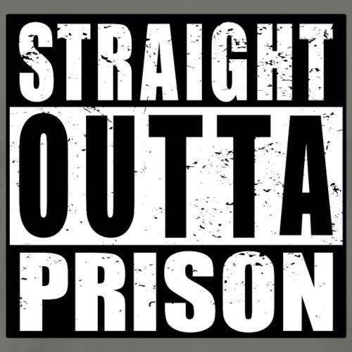 Straight outta Prison Frisch aus d. Gefängnis - Männer Premium T-Shirt