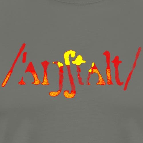 /'angstalt/ logo gerastert (flamme) - Männer Premium T-Shirt