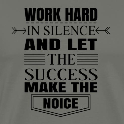 Work hard - Miesten premium t-paita