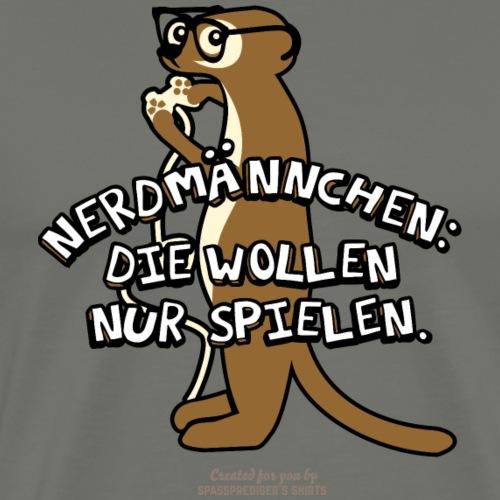 Nerdmännchen Erdmänchen Design für Nerds & Geeks - Männer Premium T-Shirt