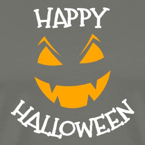Happy Halloween greeting face - Men's Premium T-Shirt