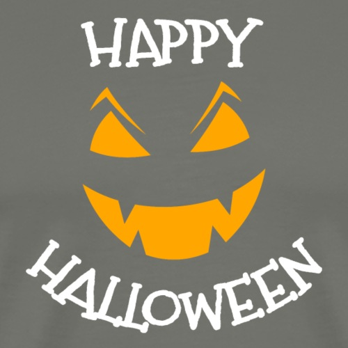Happy Halloween greeting face - Men's Premium T-Shirt