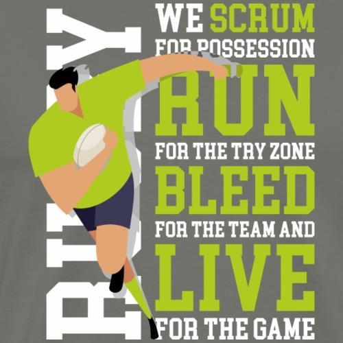 MarPlo Scrum Run Live whiteGreen - Maglietta Premium da uomo
