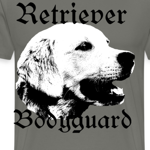 Retriever Bodyguard ,Golden Retriever Hundekopf - Männer Premium T-Shirt