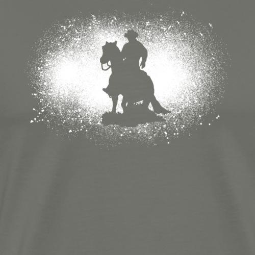 Cowboy grunge d'équitation western Cavalier de cadeau drôle - T-shirt Premium Homme