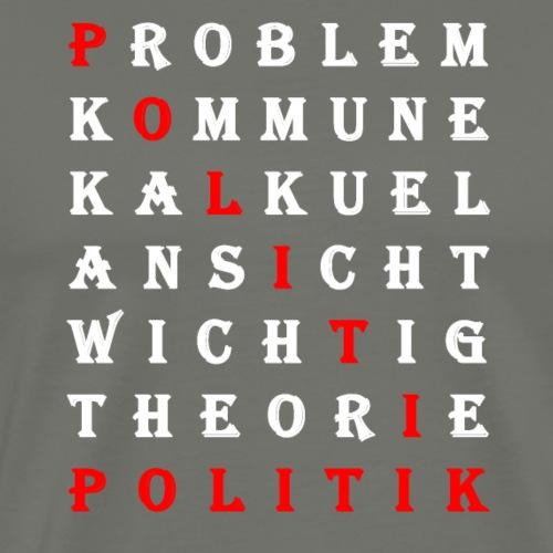 Politik Rätsel Kommune Ansicht Kalkuel Theorie - Männer Premium T-Shirt