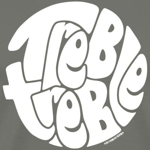 TrebleTreble White - Men's Premium T-Shirt