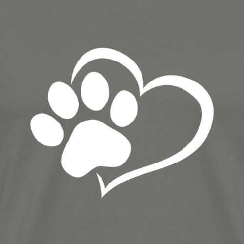 Herz mit Pfote - Männer Premium T-Shirt