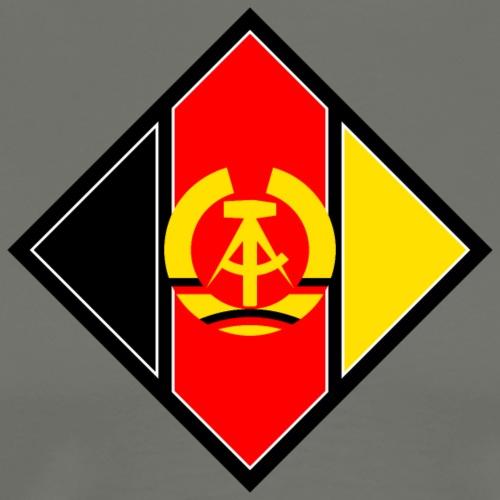 DDR coat of arms stylized - Men's Premium T-Shirt