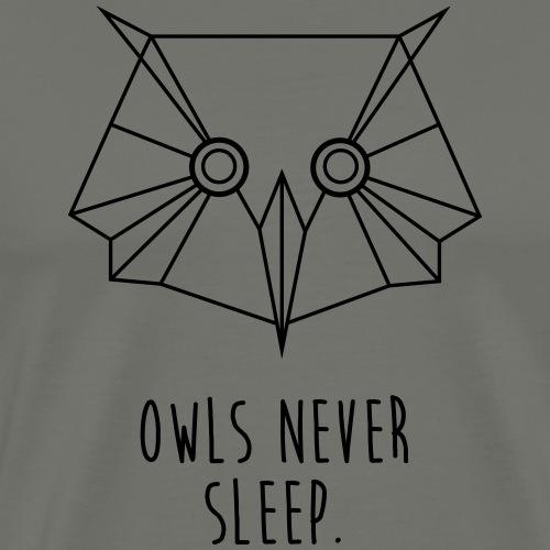owls never sleep - Männer Premium T-Shirt