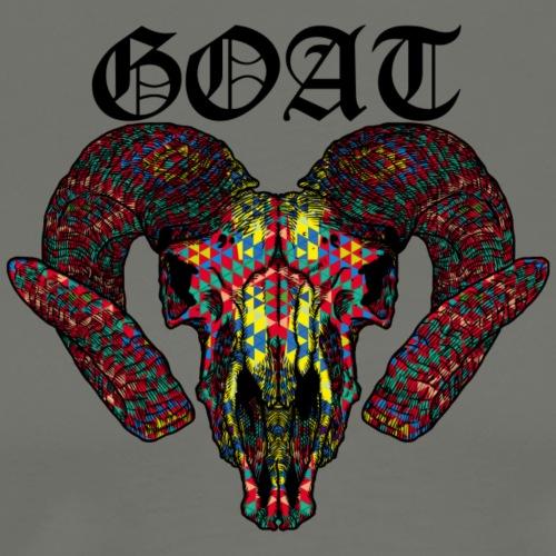 Goat World Music (Black) - Men's Premium T-Shirt