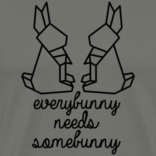 everybunny needs somebunny - Männer Premium T-Shirt