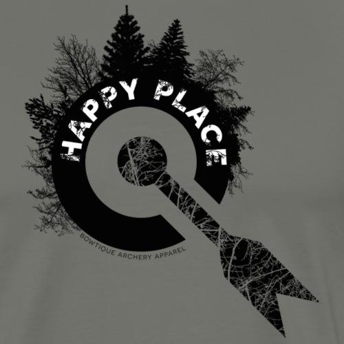 BOWTIQUE Happy Place Logo (Archery by BOWTIQUE) - Männer Premium T-Shirt