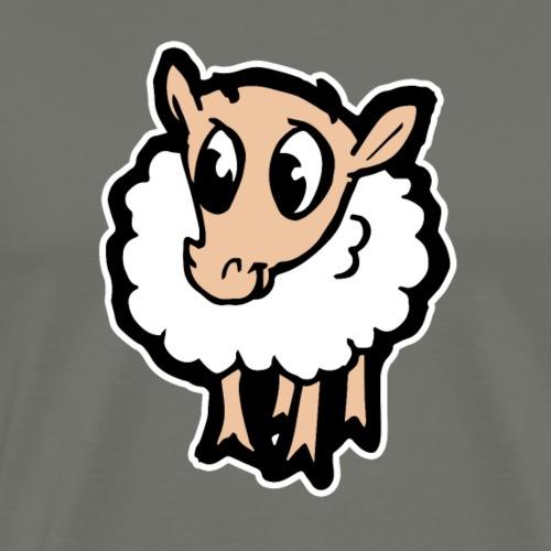 Süßes lustiges Comic Schaf Geschenkidee Cartoon - Männer Premium T-Shirt