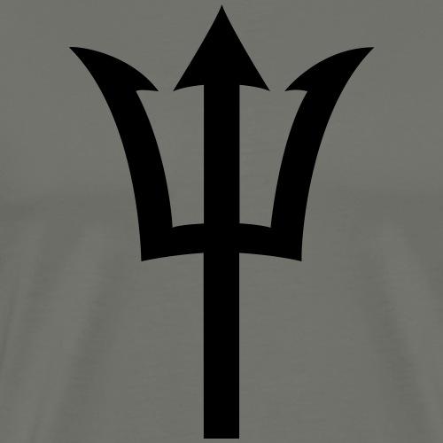 Dreizack - Männer Premium T-Shirt