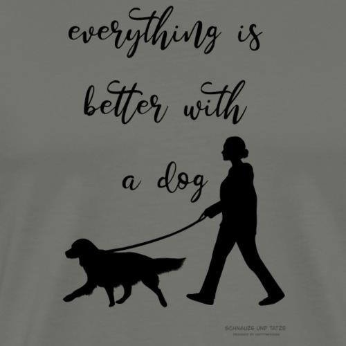 Dog walking - Männer Premium T-Shirt